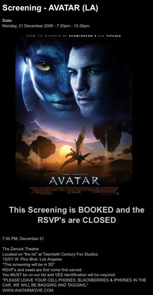 Avatar screening!