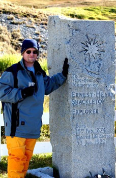Daniel Jacoby w Ernst Shackleton memorial