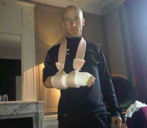 TDF 09 - stange 12 - Levi Leipheimer broke his wrist in a crash