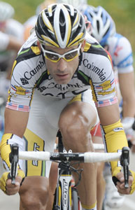 TDF09 stage 14 - George Hincapie was in virtual yellow all day, before Astana (!) and Garmin (!) reeled him back...