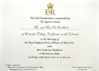the royal invitation