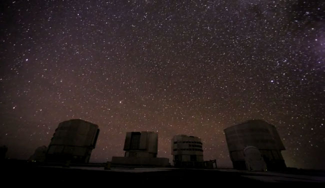 the Very Large Telescope array - click to see time lapse video