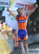 Peter Weening wins stage 5 and leads Giro d'Italia