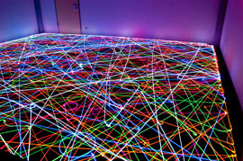 light painting with a Roomba