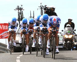 Garmin-Cervelo triumph in the TTT to take their first TDF win and put Thor Hushovd in yellow