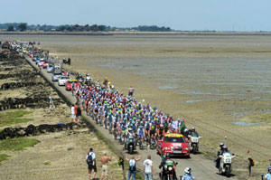 The parade over the Passage du Gois was the Grand Depart