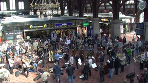 Bolero Flashmob in Copenhagen Central Station