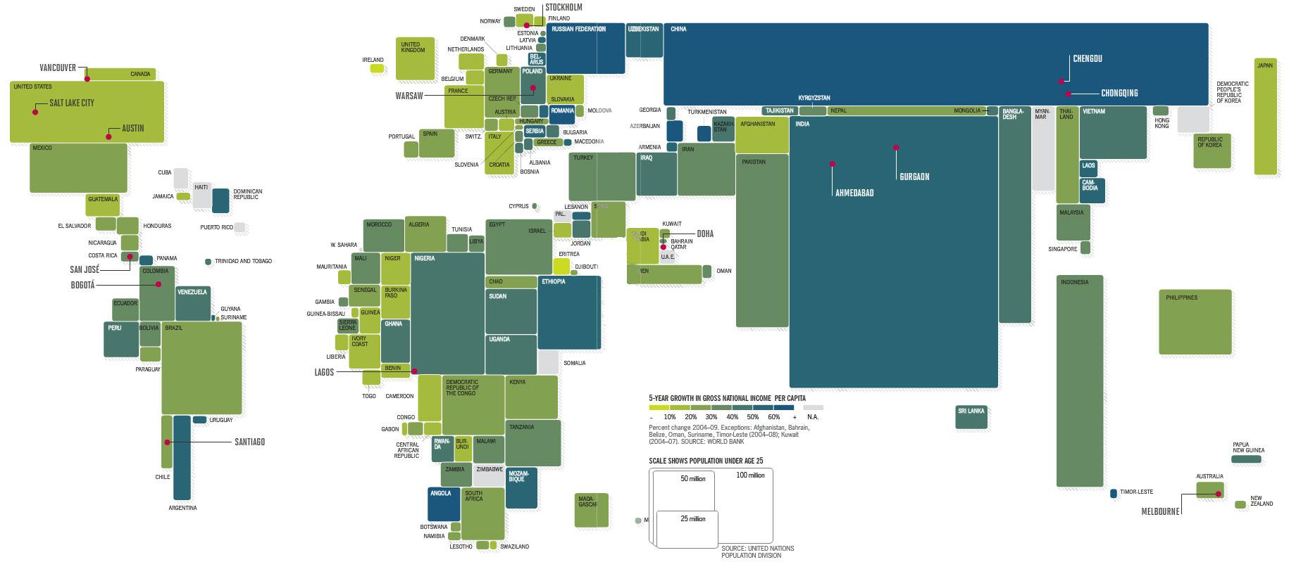 Critical Section world population map – Map World Population