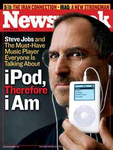 Newsweek: iPod announcement cover