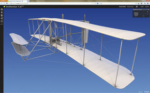 Smithsonian Wright biplane 3D model