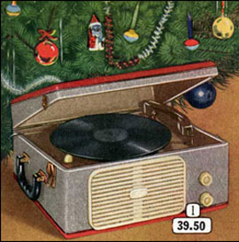 Christmas record player from 1956