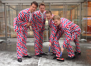 Norwegian curling team's Olympic uniforms