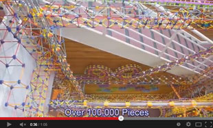 100,000 piece K'Nex machine