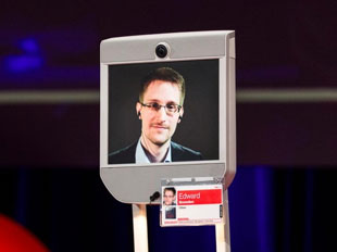 Edward Snowden gives TED talk