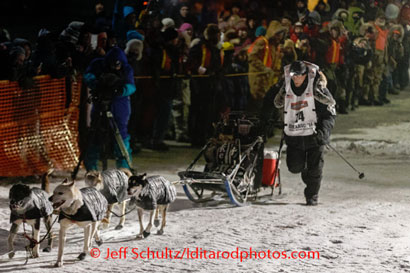 Dallas Seavey and team finish the 2014 Iditarod in first, thinking they were finishing third
