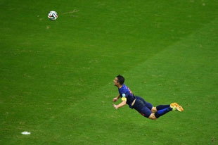 Robert Van Persie header, Ned > Spain, 5-1