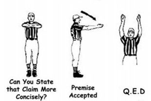 philosopher referee hand signals