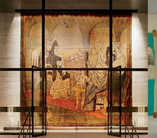 the Picasso curtain at the Four Seasons