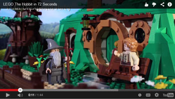 the Hobbit trilogy in 72 seconds - in animated Lego