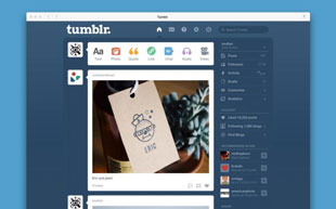 Tumblr's desktop app