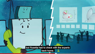 Rosetta and Philae prepare to land on comet 67P