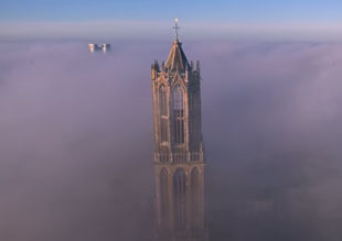 drone video of the Tower of Utrecht