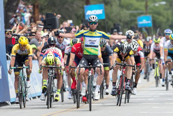 Peter Sagan barely finishes third to win the Amgen Tour