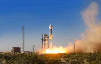 "Blue Origin launch into ""space"""