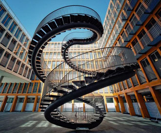 Munich courtyard stairs