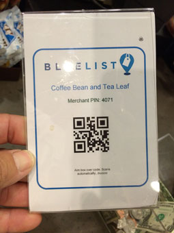 bluelist QR code - why?
