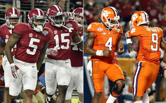 Alabama - Clemson ... for the national title