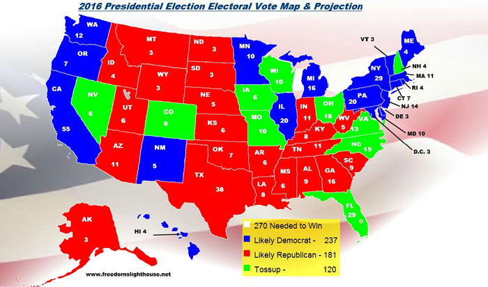 Critical Section Electoral Fail - Us electoral votes map