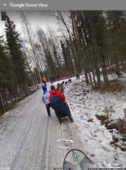 Iditarod via Google street view