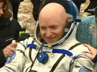 astronaut Scott Kelly: back to Earth