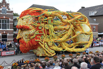 Van Gogh flower parade