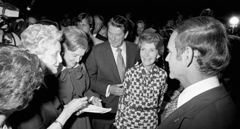 the Reagans campaign in 1976