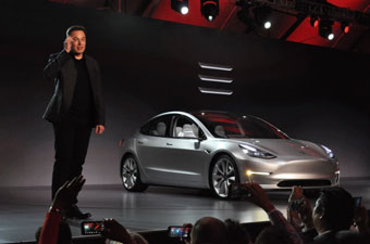 Elon Musk introduces the Tesla Model 3