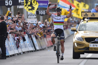 Peter Sagan wins Tour of Flanders
