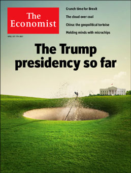 Economist: Trump golf cover